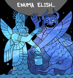 Enuma Elish - Apsu and Tiamat