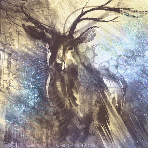 nighty deer. by mizzachita