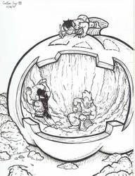 Inktober 2016 - Day 26: Pumpkin Carving by OchoBitAnimations
