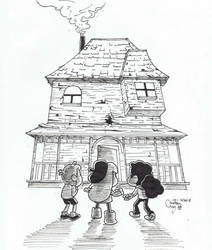 Inktober 2018 - Day 30: Haunted House