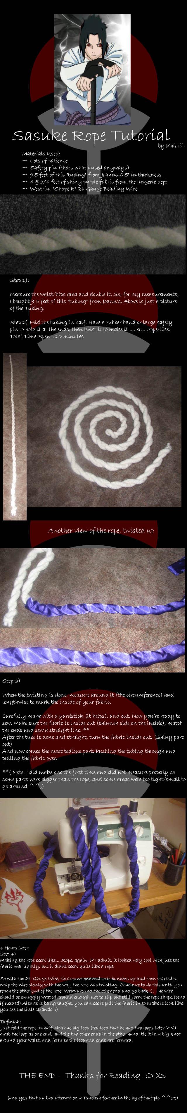 Sasuke Rope tutorial by Khiorii
