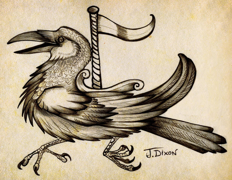 Carousel Crow by black-brd