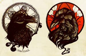 Crow Nouveau by Crowtesque