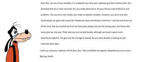 Goofys response to Della Ducks return by Daladadahui