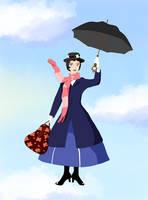 Mary Poppins - Miyazaki Style by Daladadahui