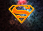 Superman logo in space