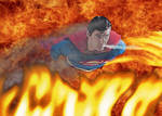 Superman vs the Flaming Inferno