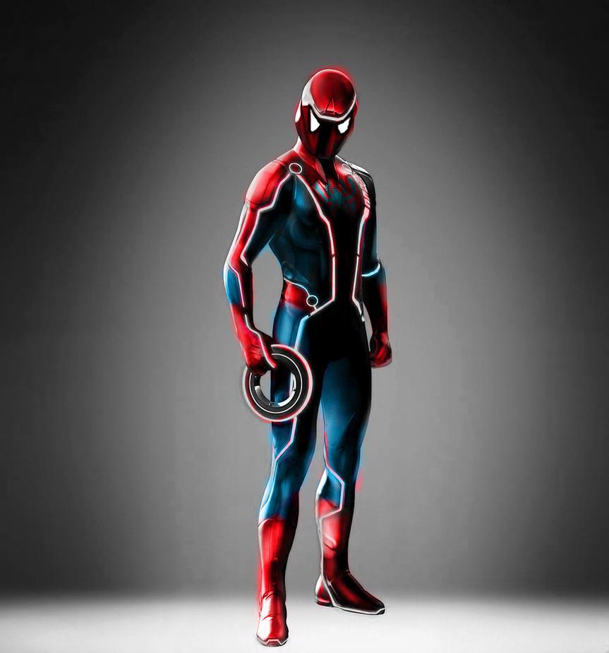 Spider-Tron by stick-m... Mangaverse Spider Man Wallpaper