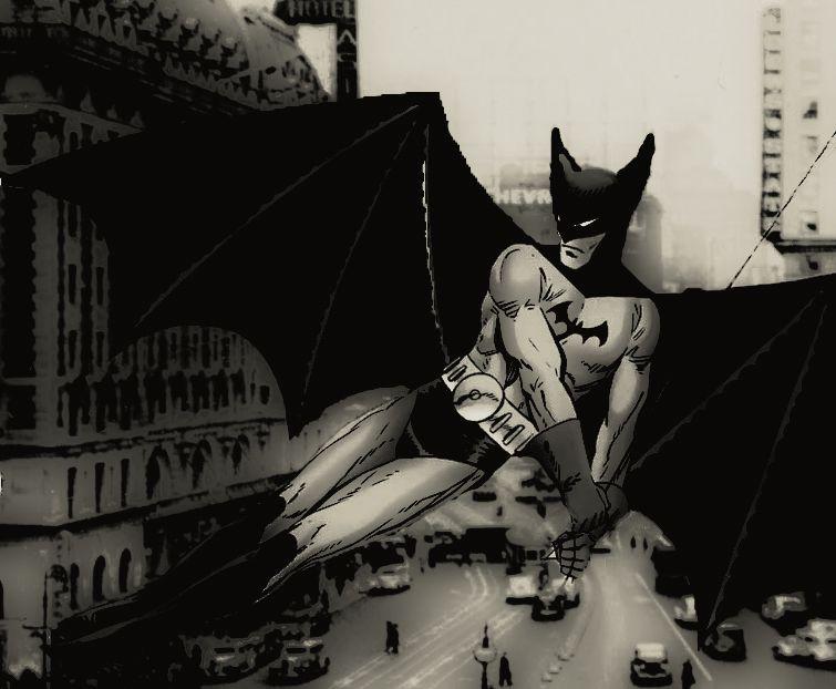 The Bat-Man - Batman of the 1930's by stick-man-11