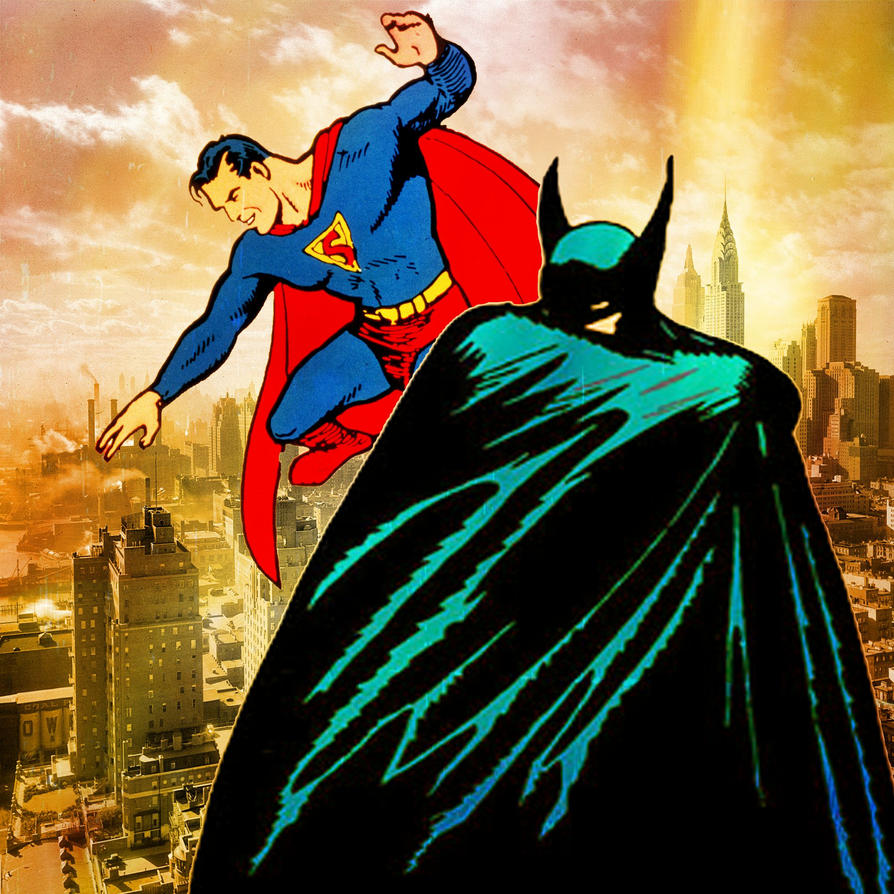 Image result for Golden AGe Superman and Batman