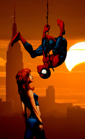 Spider-Man and Mary Jane Beautiful Day by stick-man-11