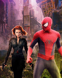 Spider-Man Black Widow - The Last Of Us by stick-man-11