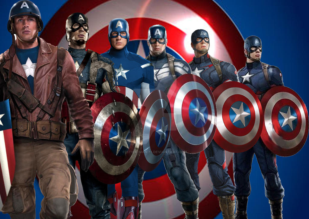The Patriotic Wardrobe of Captain America. by stick-man-11