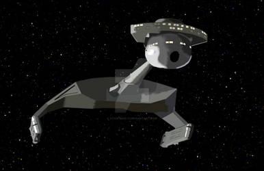 Klingon D7 Battlecruiser (Photoshop Drawing)