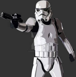 Imperial Stormtrooper (Photoshop Drawing)