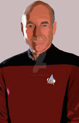 Captain Jean-Luc Picard (Photoshop Drawing)