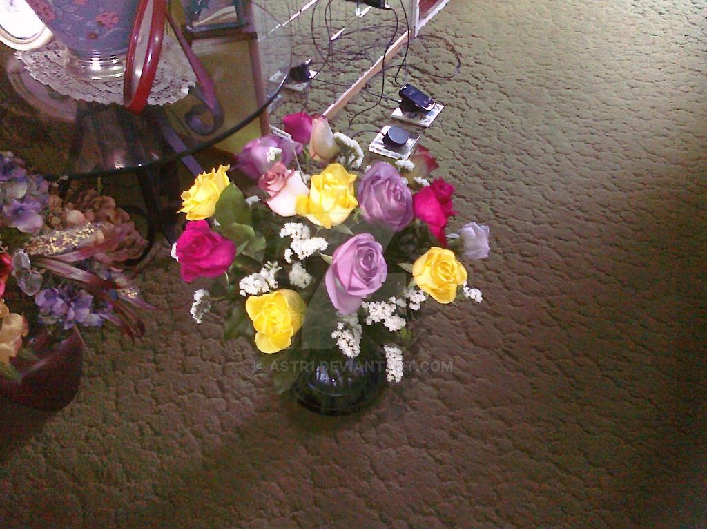 Vase Flowers by astr1