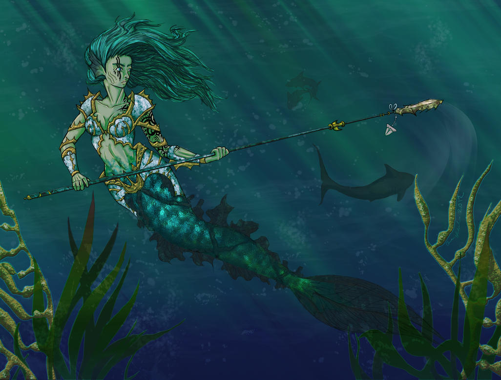Mermaid Warrior by Gorillaluau