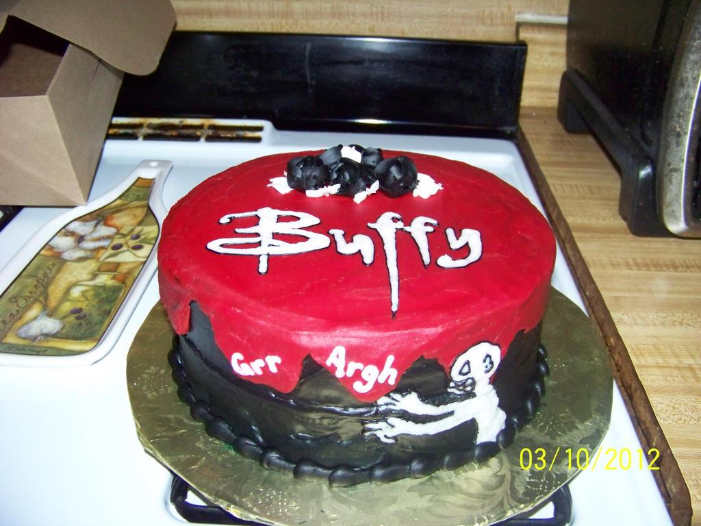 Buffy The Vampire Slayer Cake By Zoethegirl On DeviantArt - Slayer birthday cake