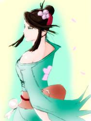 Kimono Beauty - Sakura