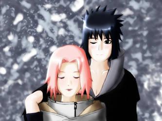 Sakura and Sasuke - Harmony in the Snow