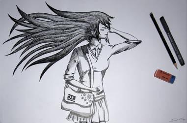 School Girl Drawing v2