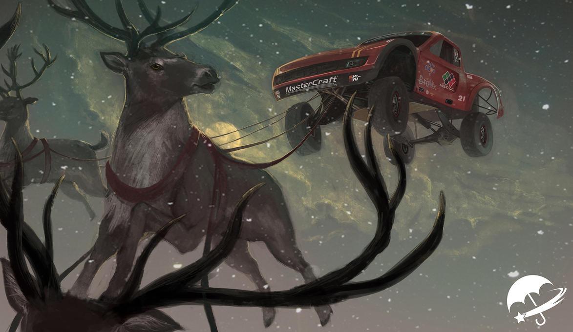 Vildosola Racing Christmas Painting by ADB9