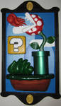 upcycled 3D mario painting