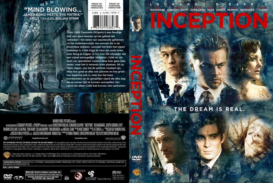 Inception Dvd Cover Art Inception DVD C...
