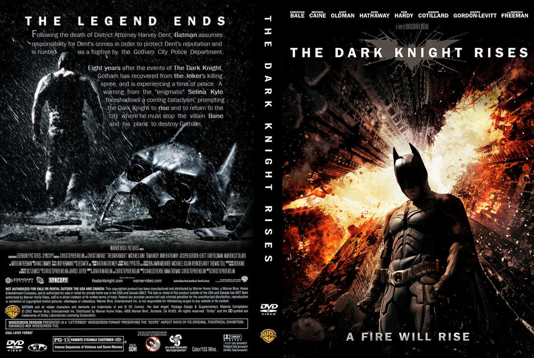 The Dark Knight Rises DVD Cover: A Fire Will Rise by ...