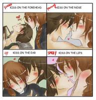 KISS Meme: Duo x Heero by Suobi-chan