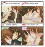 KISS Meme: Duo x Heero