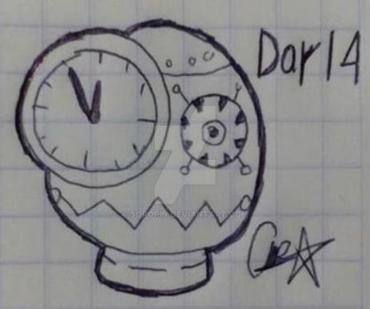 Inktober Day 14 Clock by Soropin