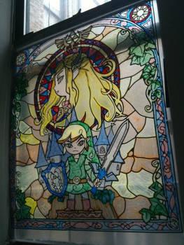 Zelda Wind Waker Stained Glass