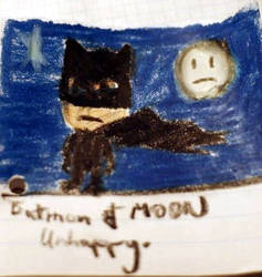 Batman and Moon unhappy by fabbazattt