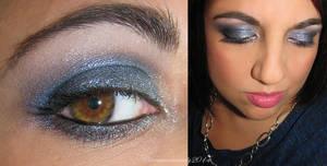 Silver Blue Makeup