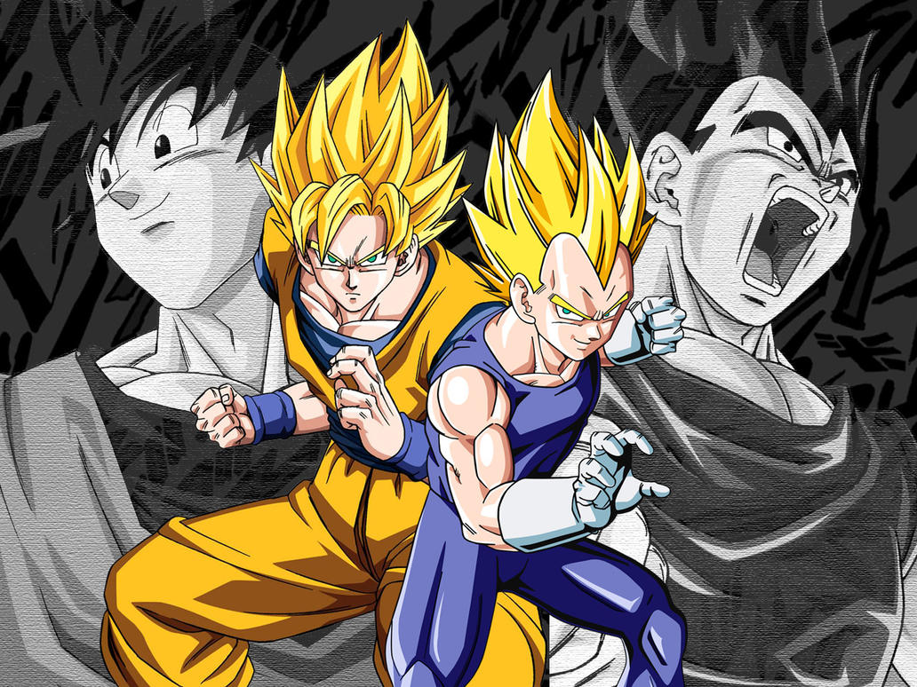 Wallpaper Goku Ssj vs Vegeta Ssj by Dony910 on DeviantArt