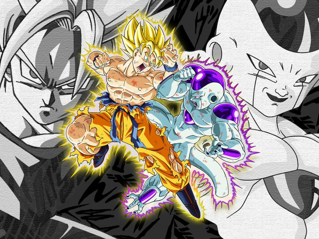 Wallpaper Goku Vs Frieza By Dony910