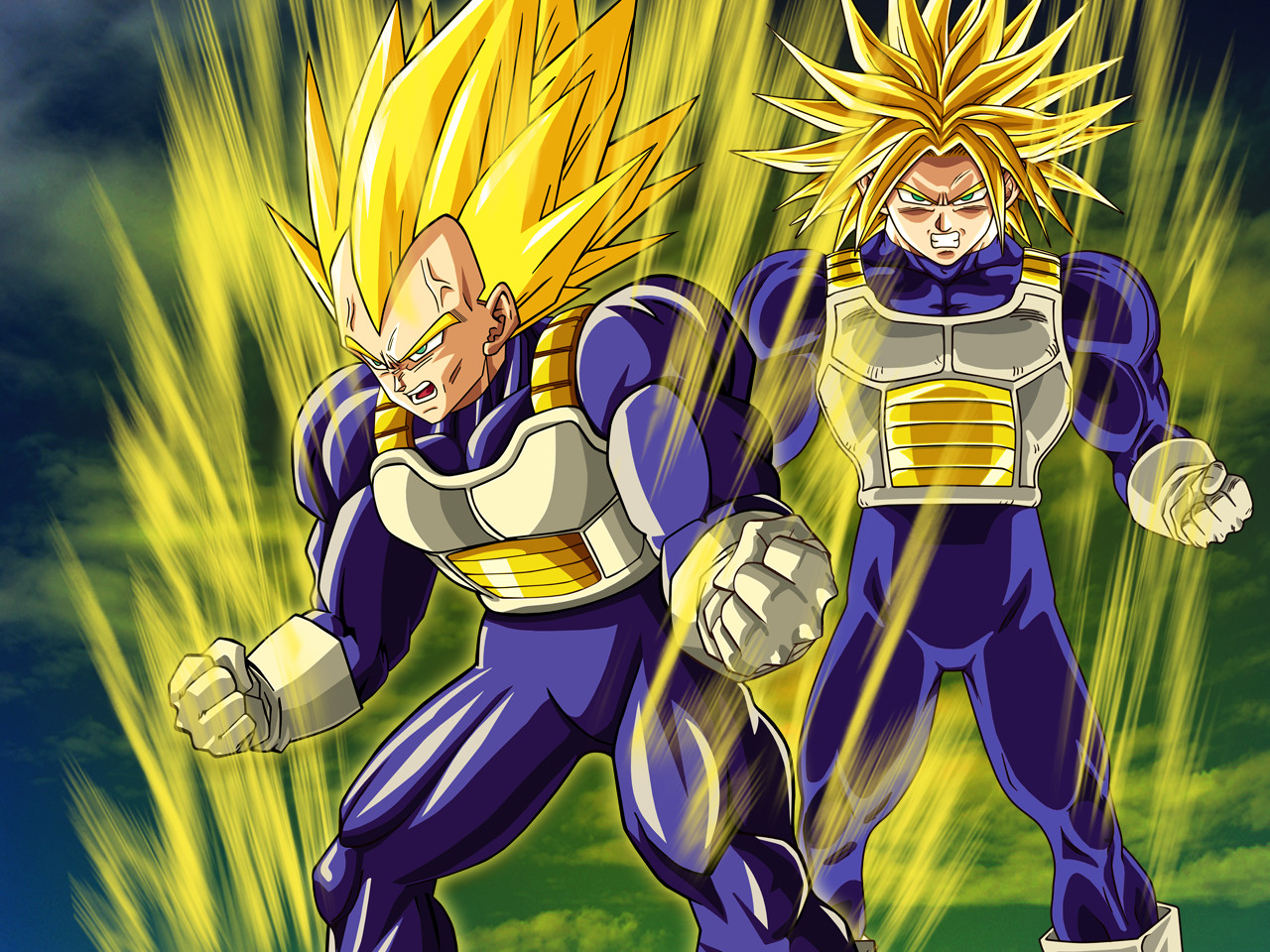 Wallpaper Vegeta And Trunks By Dony910 On Deviantart