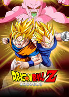 Poster Goku and Vegeta vs Kid Buu by Dony910