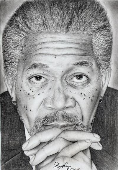 Morgan Freeman by Daricelli
