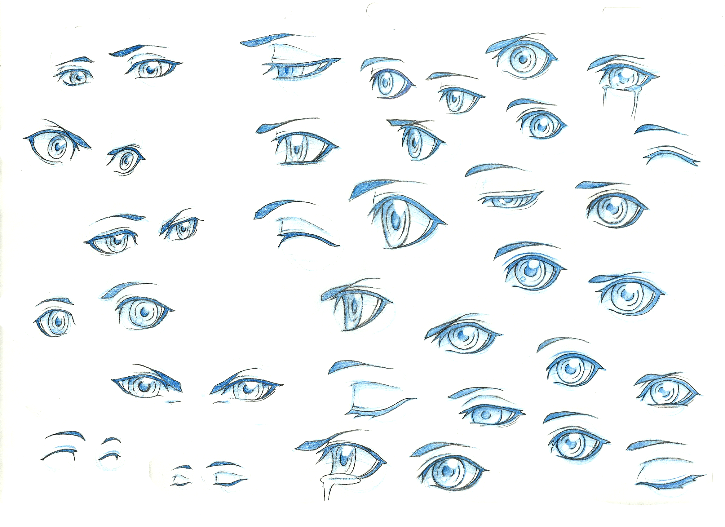 anime eyes reference male: Eye Ref 1 By TheShionProject On DeviantArt
