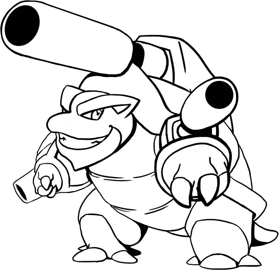 Mega Blastoise Free Colouring Pages