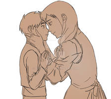 Eren with his Mother