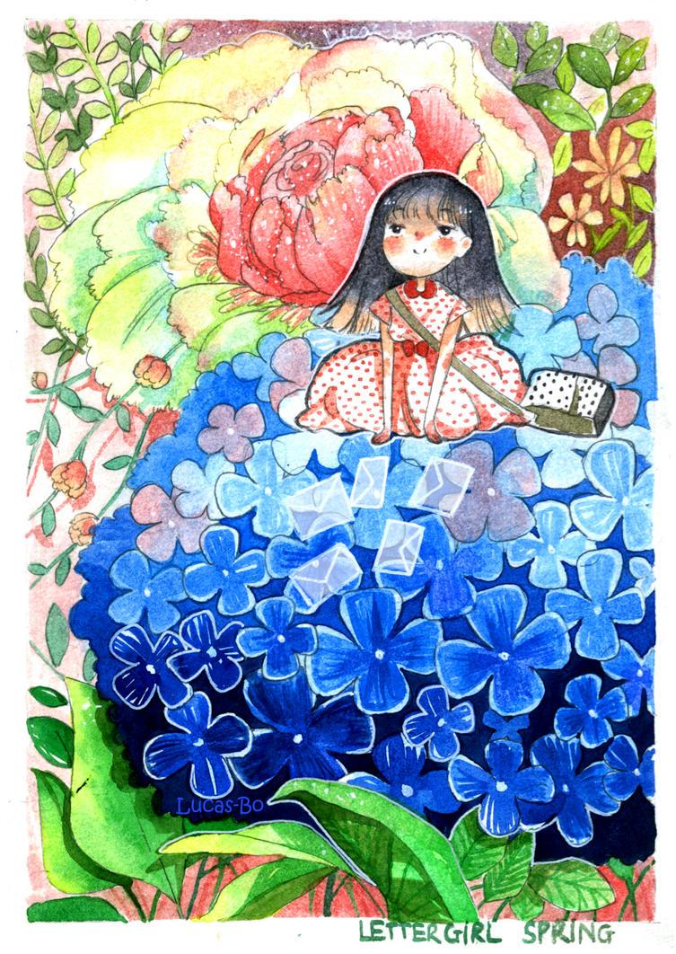 Letter girl [Spring] by Lucas-Bo