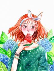 watermelon girl by Lucas-Bo