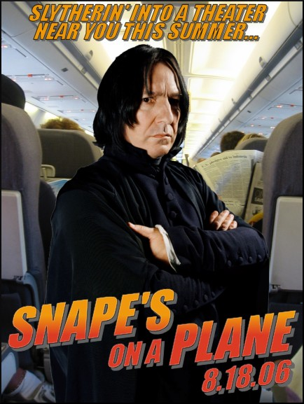 Snape's on a plane by snickerdoodle146