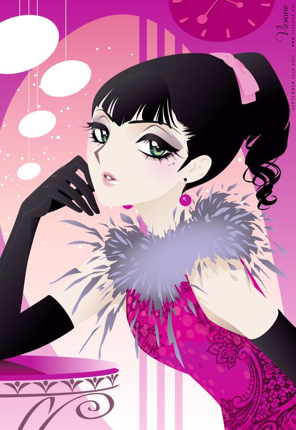 Evening Pink by Viviane-ch