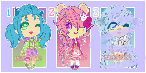Adoptables CLOSE  [POINT OR PAYPAL] by Myshumeaw