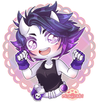 Chibi demon violet by Myshumeaw